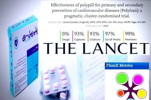"""The historical study of """"Polypill"""" surpassed public  attention  in social media among all articles published by the """"The Lancet"""" in 2019"""